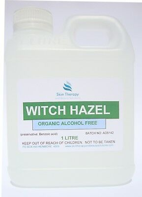 Witch Hazel organic alcohol free 1 Litre natural skin toner