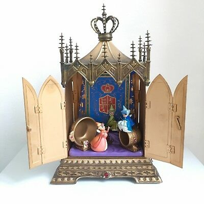 """Rare Wdcc Disney Sleeping Beauty """"Clandestine Conclave"""" Le 602/750 With Box Coa"""