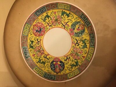 Chinese famille rose plate  Qianlong mark