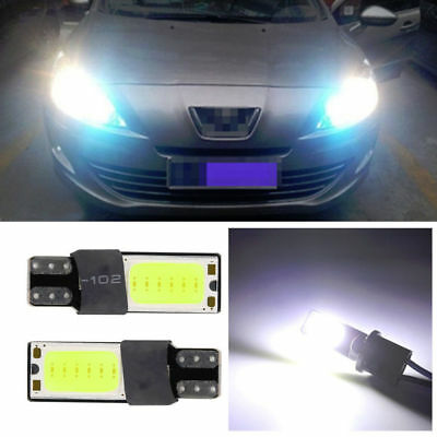 T10 Car Bulbs Error Free Canbus Smd Cob White Ice Blue W5W 501 Side Light Lamp