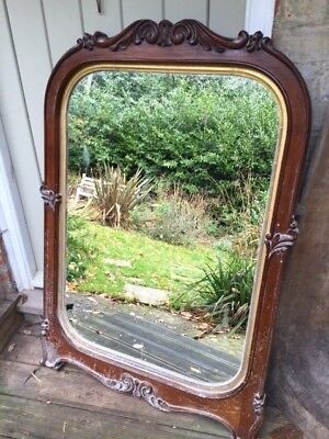 Antique Large Victorian Mirror