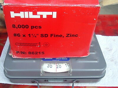 "23 LBS 1/1/4"" SD Self Drilling Drywall Screws Heavy Guage Hilti"