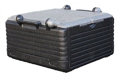 FLIP BOX CLASSIC Grey 24 QT/ 30 can Insulation Box Foldable ECO Friendly Cooler!