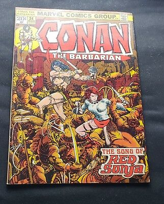 Marvel Comics Conan The Barbarian #24  1St Full Appearance Red Sonja