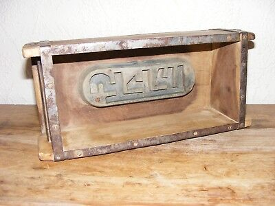 VINTAGE WOODEN STORAGE BOX Indian Brick Mould SHABBY CHIC DECORATIVE DISPLAY