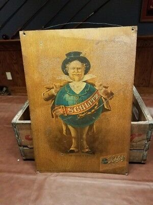SCHLITZ TIN Lithographed sign - WI