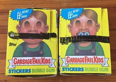 Lot Of 2 1988 Topps Garbage Pail Kids 12th Series Boxed 48 ct Each Box