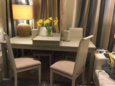 Lombok Canton Dining table & 6 Chairs Expandable Light Grey Seats 8-10 RRP3600