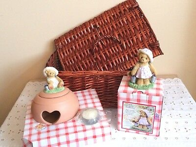 CHERISHED TEDDIES 2003 CLUB KIT CTNR03 Basket Candleholder Leah
