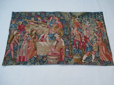 4743 - Old French / Belgium Tapestry Wall Hanging - 120 x 70 cm