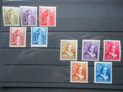 Lot [6] LUXEMBOURG - 1932-1933 - YT#239-248 - MINT HINGED