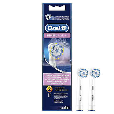 Oral-B Sensi Clean Electric Toothbrush Replacement Heads Pack of 2