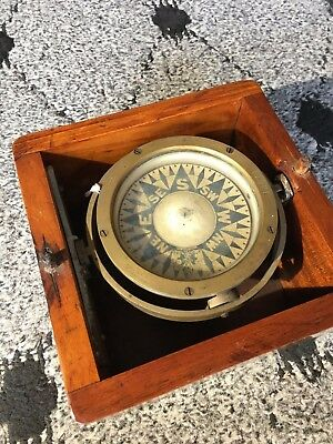 "Rare 1866 Ritchie 4 1/2"" Pointcard Compass"