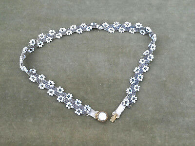 Antique Georgian/victorian Bead Glass Necklace Pinchbeck Gold Mother Pearl Clasp