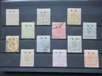 Lot [28] LUXEMBOURG - SERVICE STAMPS - 1882-1883 - YT#54-65 - used/MH #65 signed