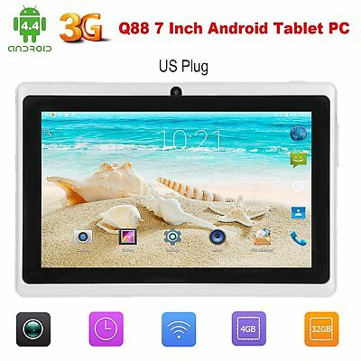 """Q88 7"""" Android  Quad Core Tablet PC 4G+512MB 3G WiFi 1.3MP UK STOCK CHILD CHI"""