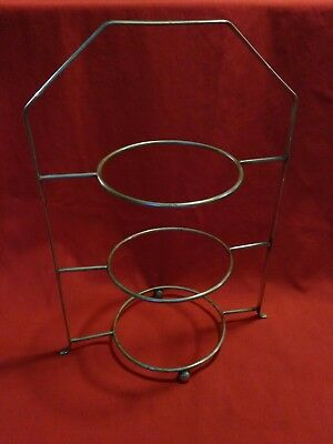 Vintage Antique Silver Plate Afternoon Tea Plate Cake Stand 3 TIER PLATE STAND