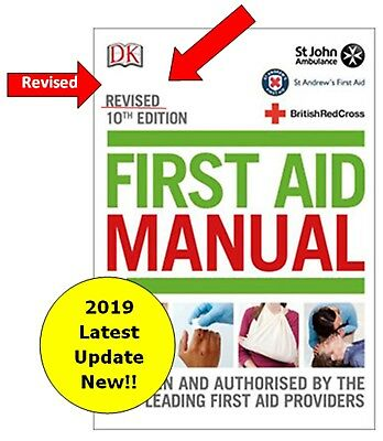 Revised First Aid Manual Book 10th Edition 2018 Red Cross St Johns, NEW Latest