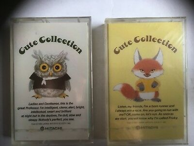 Hitachi Cute Collection 46 Factory Sealed Audio Cassettes Japan 2 Tapes Rare
