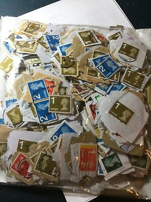Great Britain Large British Stamps Used On Paper Different Printings 250 Grams