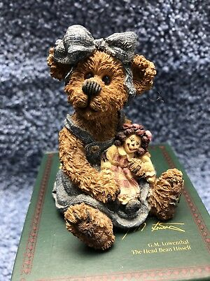 """Boyds Bears* Sally Quignapple with Annie*  """"Ole Friends are Bes""""1st Ed  Retired"""
