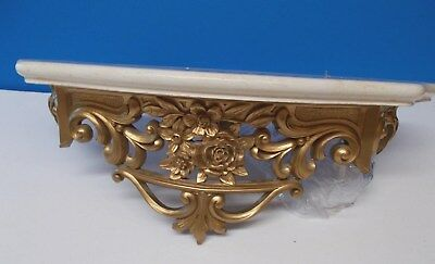 Vintage HOMCO Bed Crown With Faux Marble Top