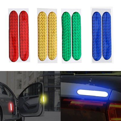 1 Pair Safety Mark Reflective Strips Car Door Stickers Warning Tape Auto Decal