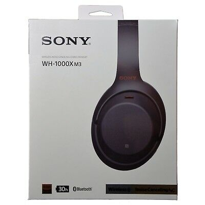 Sony WH-1000XM3 WH1000XM3 Bluetooth Noise-Canceling Headphones - Black DUTY ZERO