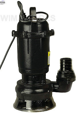 Submersible Sewage Dirty Water Pond Drain Septic Sump Cesspool Grinding Pump