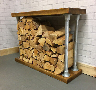 Rustic Indoor Log Store, Log Holder, Log Basket, Wood Burner, Log Storage,