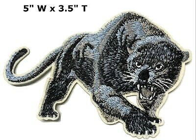 Black Panther Big Cat Series Embroidered Patch Iron / Sew-on Lions Bears Cats