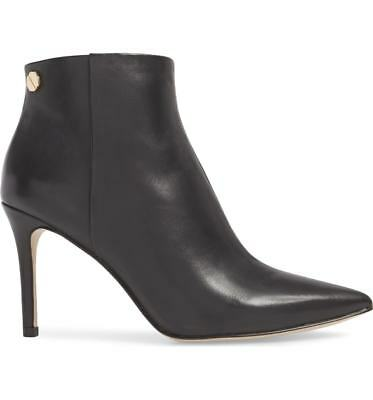 Louise et Cie Women's Sonya Pointy Toe Bootie Size 6.5 Black Leather MSRP $150