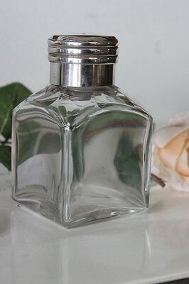 Antica Boccetta Profumo In Vetro E Argento Antique Sterling Silver Shent Bottle