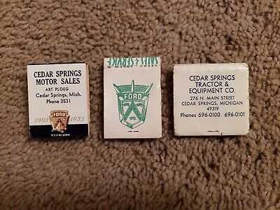 Vintage Michigan Ford Dealership 1950's/1960's  Matchbooks.