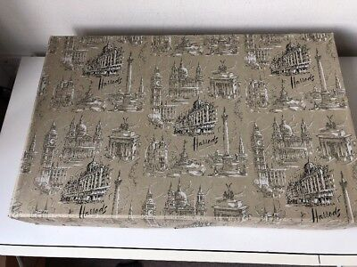 Vintage Harrods Gift Box London Landmarks storage Collectable 1950s/60s card