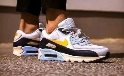 sale retailer 6fcb9 93f37 Nike Air Max 90 Essential  Blue Void  Blue White Yellow Size UK13 AJ1285-