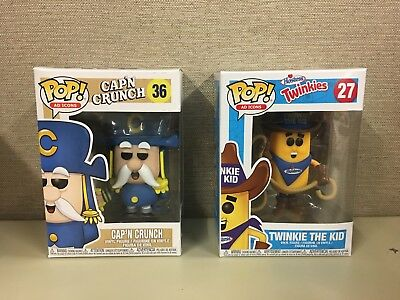 Funko POP Ad Icons Set of 2: Cap'n Crunch with Sword & Hostess Twinkie The Kid