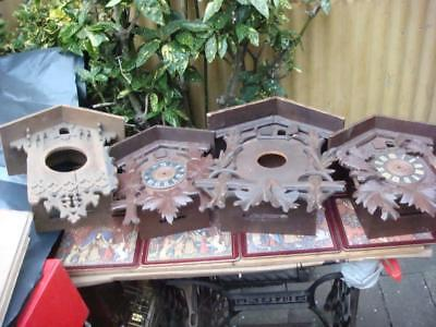 Vintage  Cuckoo Clock cases  For Restoration or Spare / Repair