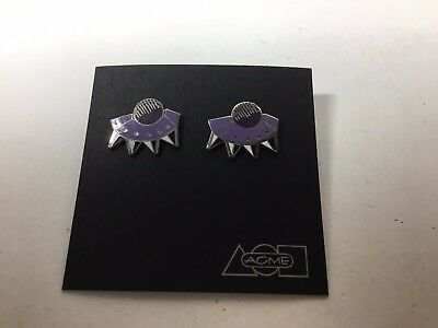"Vintage ACME Studio ""Barbarian"" Earrings by MEMPHIS Designer Peter Shire"