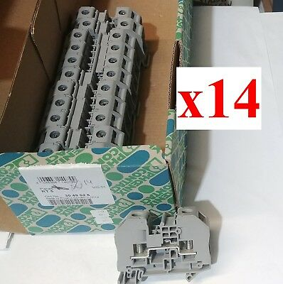 (LOT of 14) NEW 3049026 Phoenix Contact RT 5 Bolt connection terminal block