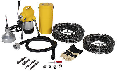 Steel Dragon Tools® K-50 Drain Cleaner with 130' of C8 Cable fits RIDGID® 58980