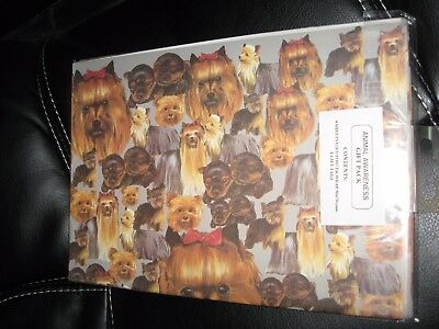 "Yorkshire Terrier DOG Wrapping Paper 4 Sheets 19.5"" x 27.5"" Gift Wrap 2 Gift Tag"