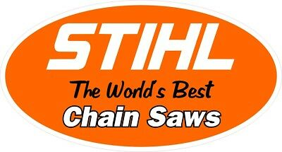 "Stihl World's Best Chain Saw Vinyl Decal Bumper Sticker 6"" x 3.2"""