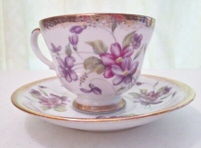 Napco China tea cup & saucer, hand painted IDD 159.