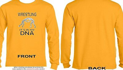 Wrestling It's In My DNA Long Sleeve - Wrestling - Sports - DNA 19