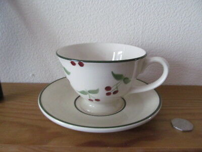 Laura Ashley Berries  Large Breakfast Cup And Saucer