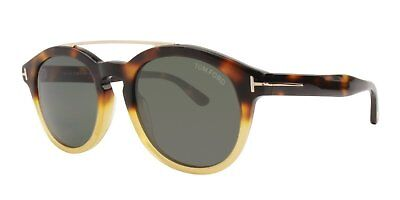 37ef38b991 Tom Ford Newman TF515 56N Sunglasses Havana Brown Gradient Frame Gray Lens  53mm