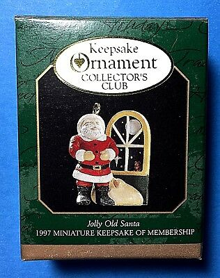 "Hallmark ""Jolly Old Santa"" Miniature Ornament 1997"