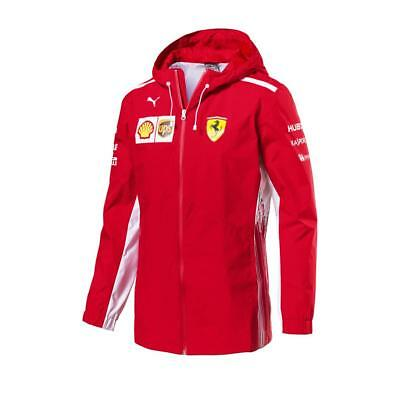2018 Scuderia FERRARI F1 Team Rain Jacket Coat MENS Red - New OFFICIAL