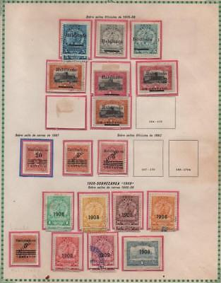 PARAGUAY: 1905-1908 Examples - Ex-Old Time Collection - Album Page (21225)